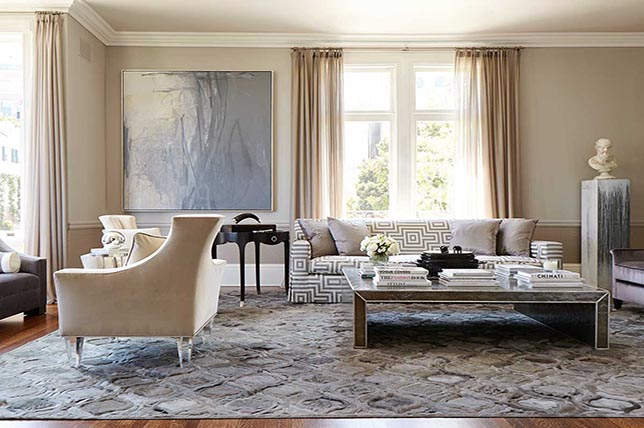 Transitional style window treatments