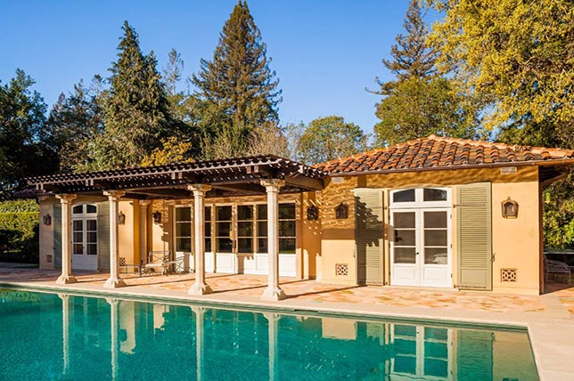Mediterranean pool house plans