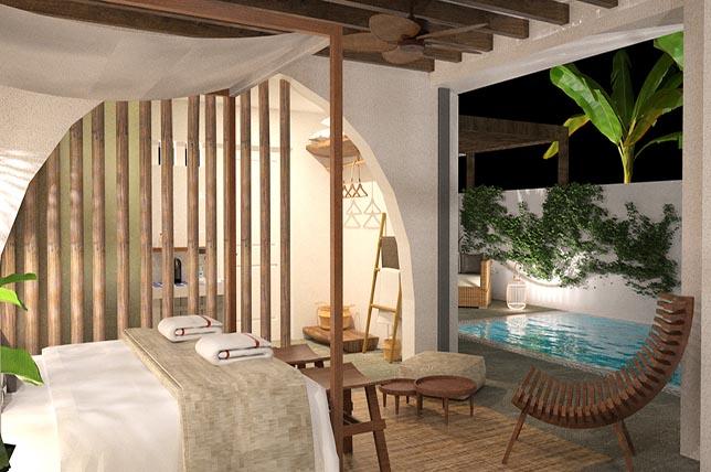 bohemian pool house plans