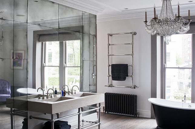 mirrored bathroom tile ideas
