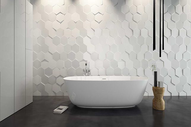 modern geometric bathroom tile designs