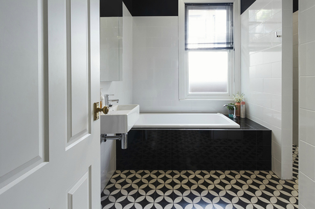 patterned bathroom tile ideas