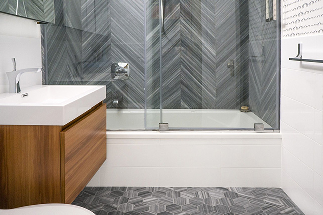 Chevron bathroom tile ideas