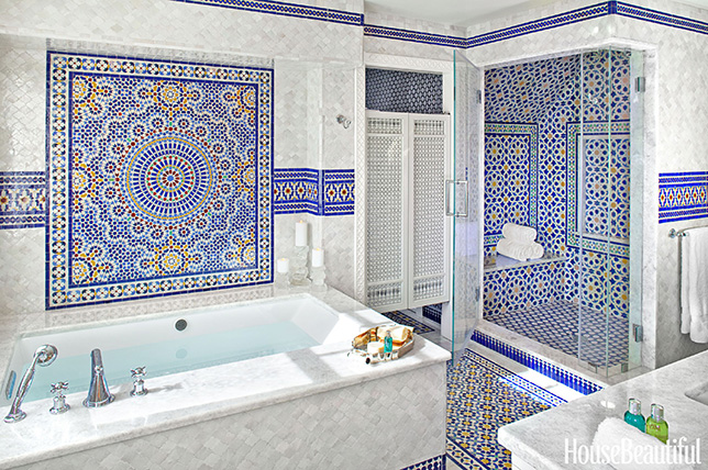 Moroccan bathroom tile ideas