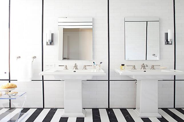 striped bathroom tile ideas