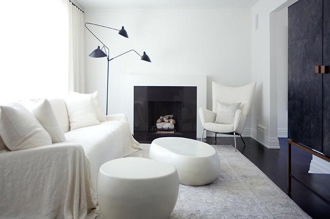 Minimalistic color palette for interior design