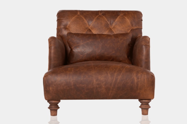 stylish leather reading chair