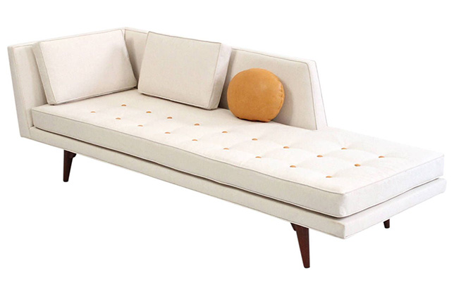 modern tufted chaise longue chair