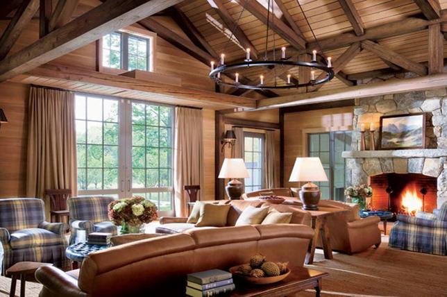 Interior design in rustic decor