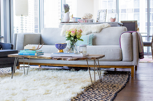 Define a room with layered carpets