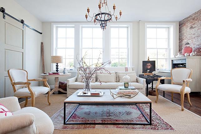 Layered carpets small room
