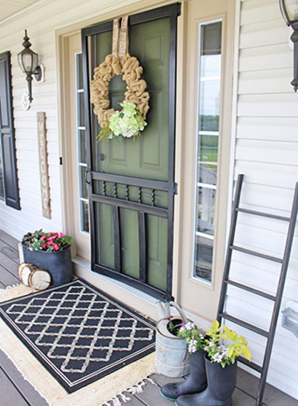 Doormat entrance layered carpets tips