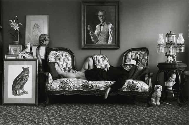 Arnold Newman Truman Capote home portrait