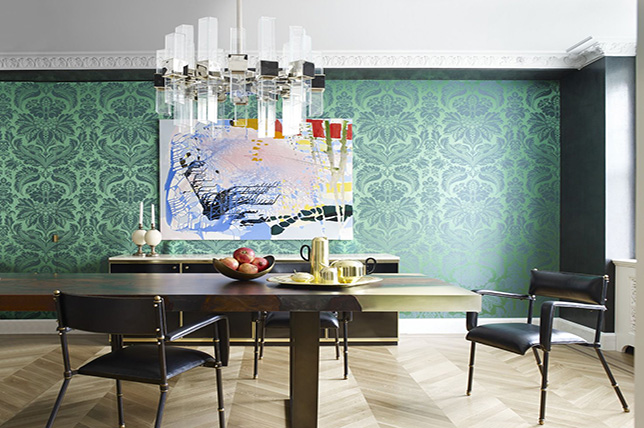 eclectic style interior design colors