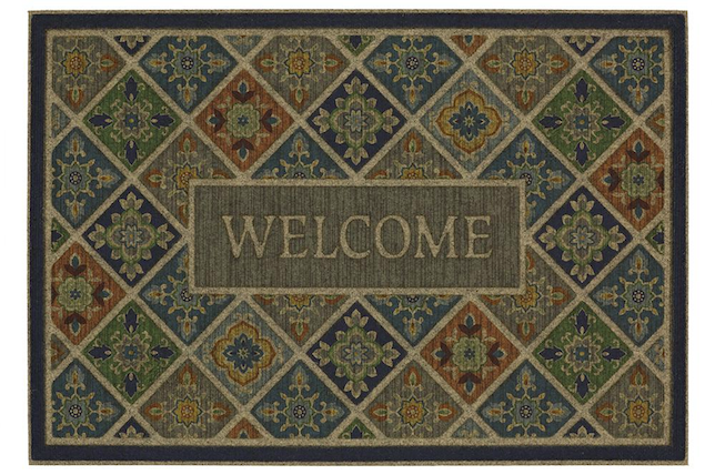 modern entrance mat