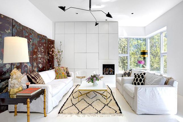 modern antique eclectic furniture mix