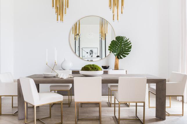Dining room interior design monochrome modern