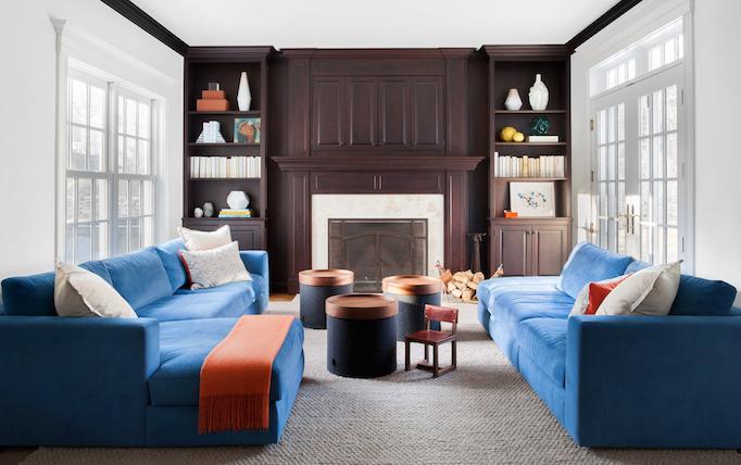 Fog blue interior design color trends
