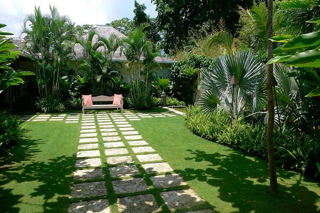 paved backyard landscaping ideas