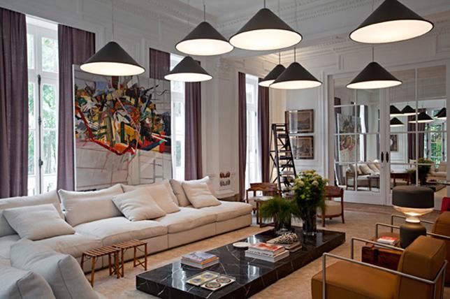 modern mural living room paint ideas