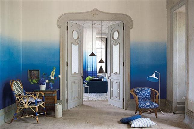 Ombre living room color ideas