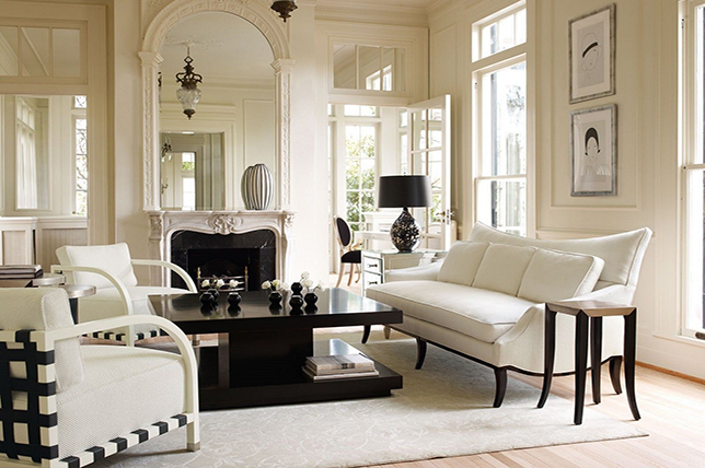 small living room furniture ideas symmetry