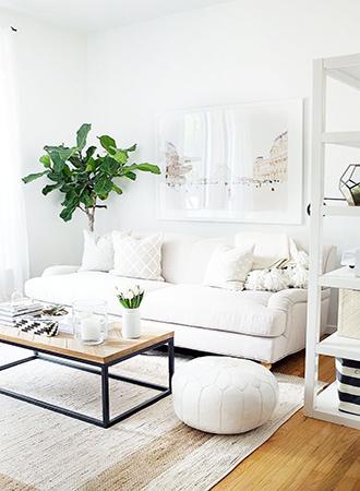 small living room furniture ideas tonal white