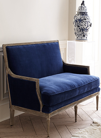 velvet love seat small furniture ideas