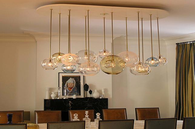 Vintage inspired dining room lighting