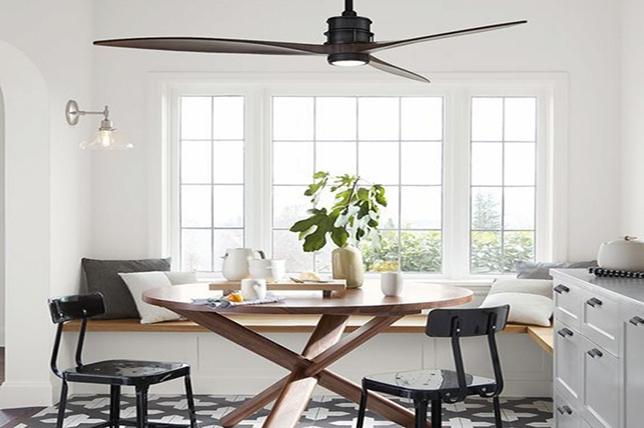 Ceiling fan dining room lighting
