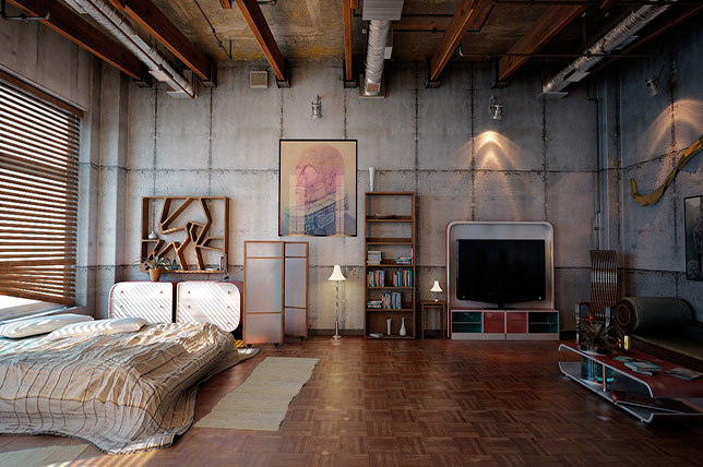 Bachelor pad ideas loft apartments