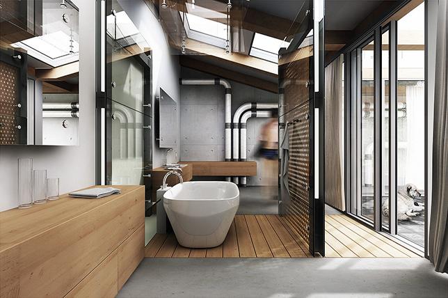 rustic industrial interior design