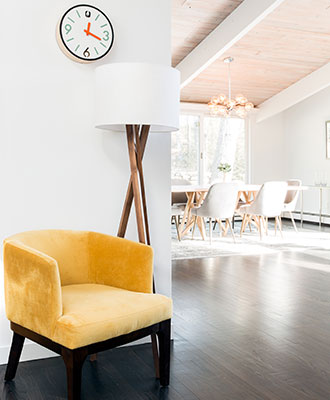 yellow armchair to add a splash of color to your home