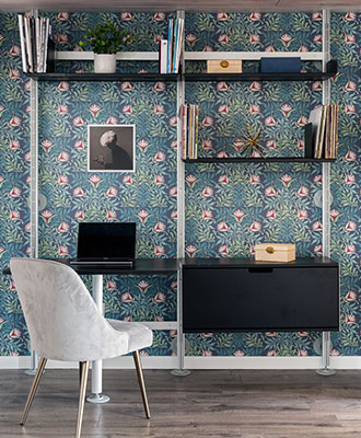 Paint on bookshelves to add pops of color to your home