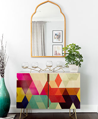 Add colorful accents that add pops of color to your home