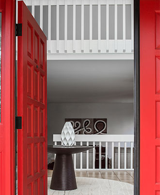 Paint doors to add pops of color to your home