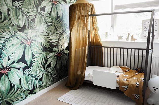 modern tropical living room wallpaper