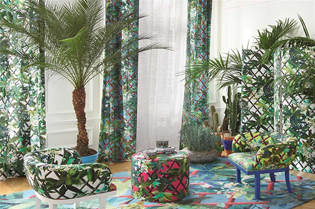 tropical-inspired interior