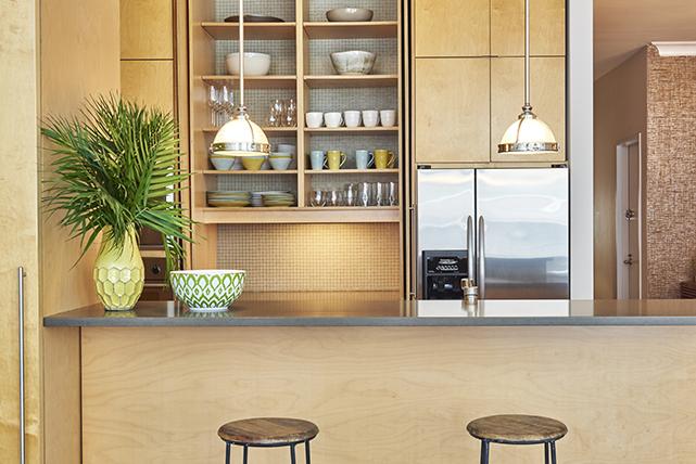 Open kitchen shelf decorative styling ideas