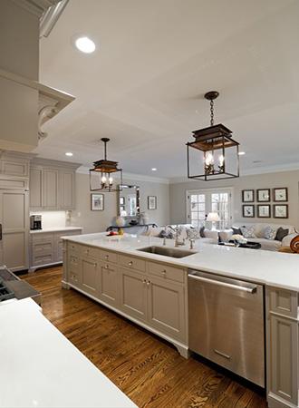 Kitchen remodel style flow
