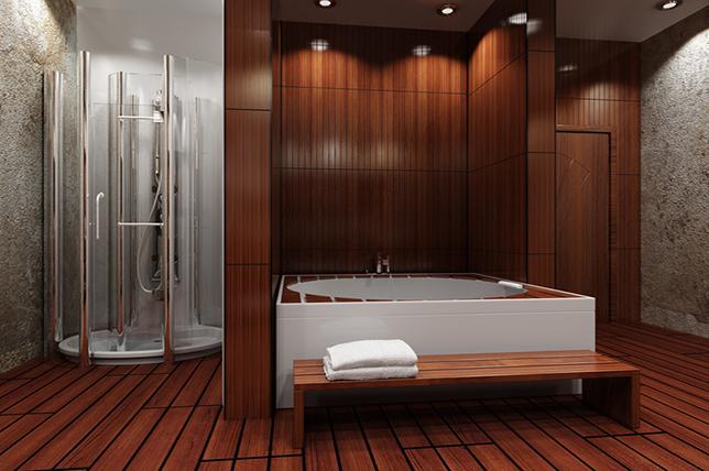 Wood bathroom remodeling ideas