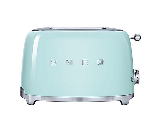 Mint green toaster