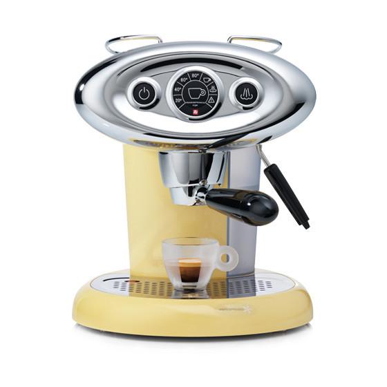 light yellow espresso machine