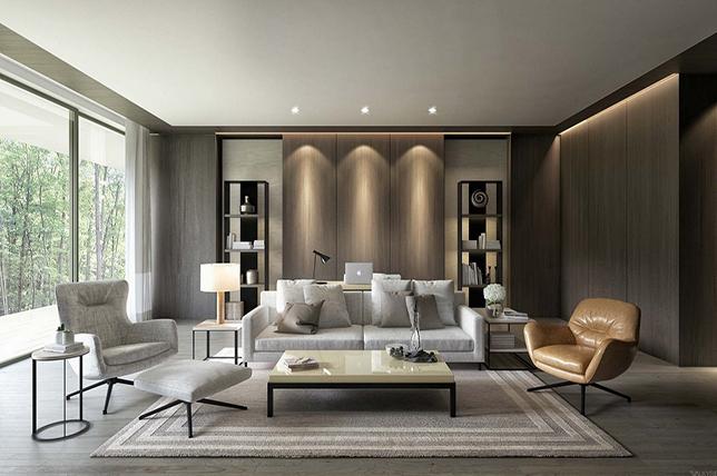 Color trend of modern interior design
