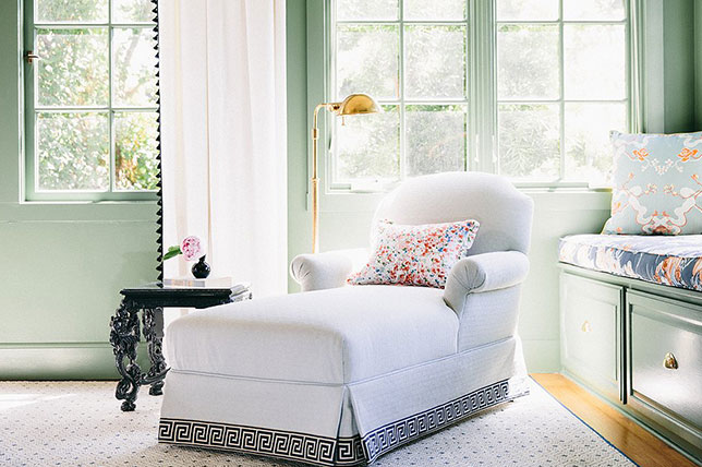Sage green color bedroom decor