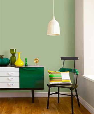 Sage green accents decor