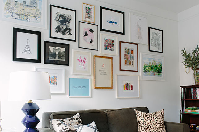 Interior design of the gallery wall