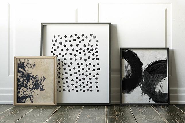 modern interior design of gallery wall