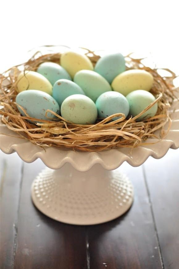 Easter eggs nest cake stand