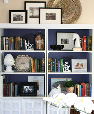 paint bookshelves as home improvement